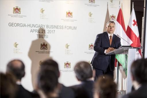 Orbán Viktor: kamatoztatni kell a jó magyar-grúz kapcsolatokat