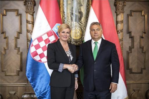 A vitás kérdések is szóba kerültek a horvát államfő és Orbán Viktor találkozóján