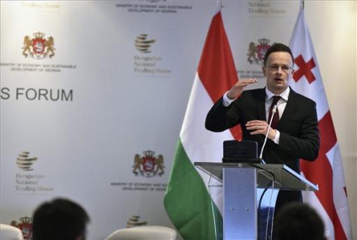 Szijjártó Péter: hasonló stratégiát követ a magyar és a grúz kormány